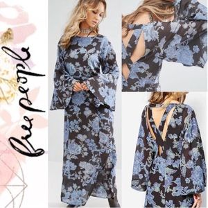 NWT Free People Melrose floral maxi dress